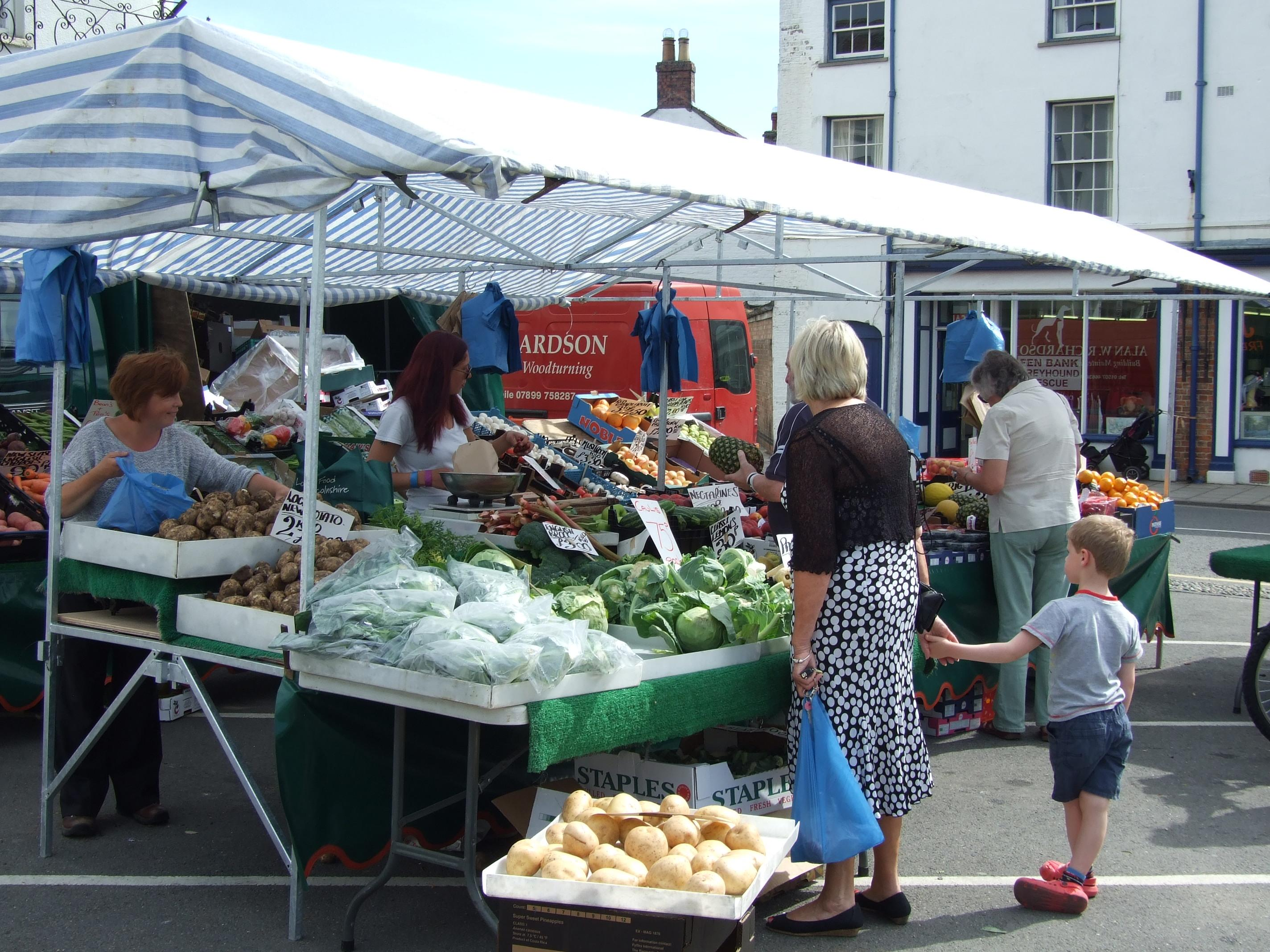 Picture of Fruit and veg stall on Alford Market